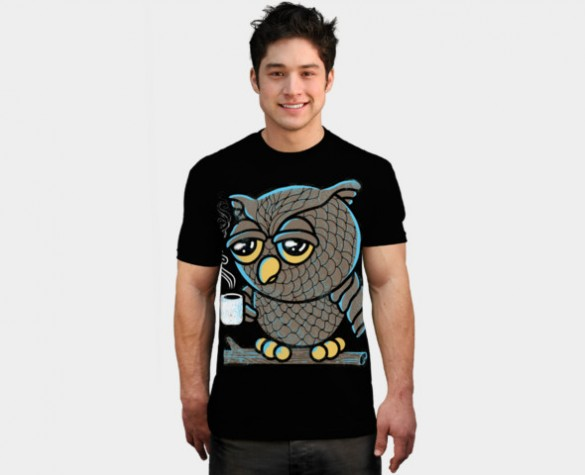 Daily Tee Owl I want is Coffee t-shirt design by qetza boy