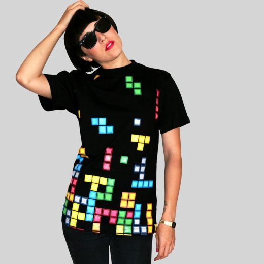 Daily Tee Tetris t-shirt design from technabob.com girl