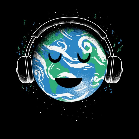 Daily Tee The whole earth loves music t-shirt design by biotwist