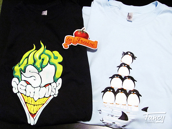 T-shirt review Why so serious and Fonte des glaces from laFraise