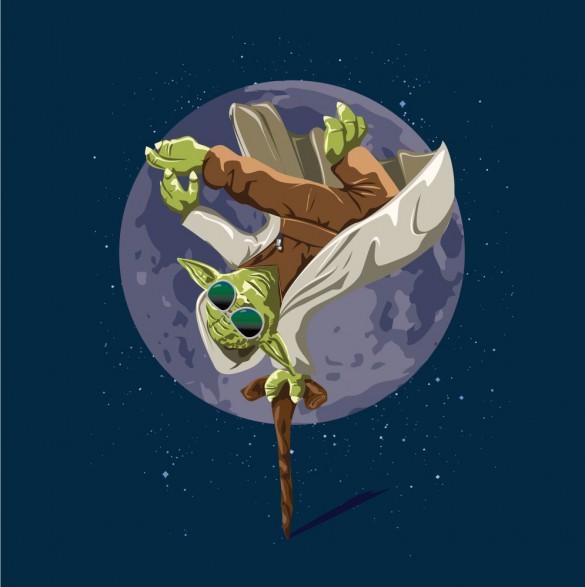 Yoda Force Break Dance t-shirt design by wearviral.bigcartel t-shirt design