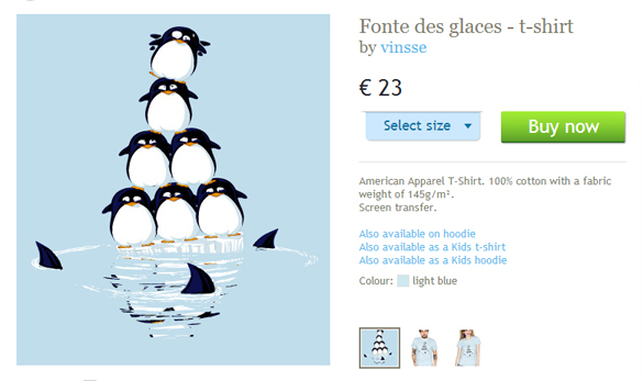 laFraise website Fonte des glaces t-shirt design