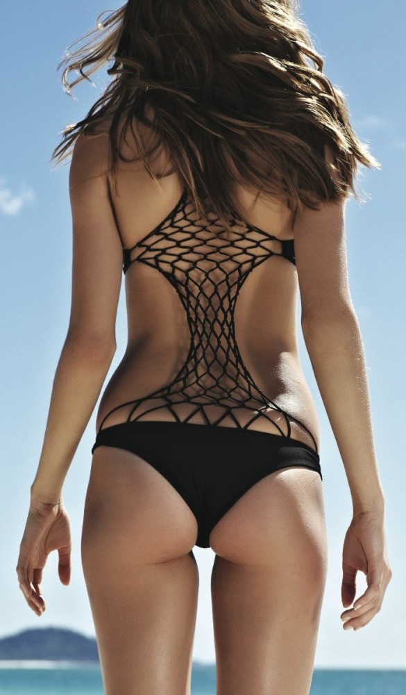 2013 Mikoh Swimwear Xavier One Piece in Ginger and Orchid 2