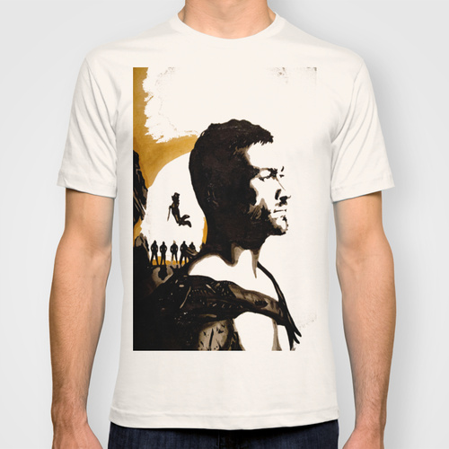 Andy Whitfield Spartacus Tribute custom t-shirt design by ArtbyNathanFreeman boy