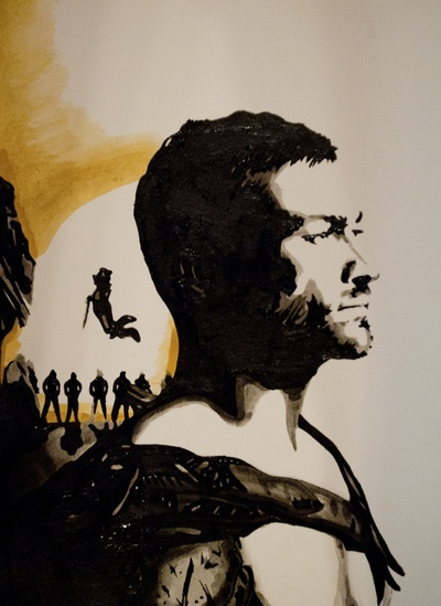Andy Whitfield Spartacus Tribute custom t-shirt design by ArtbyNathanFreeman design