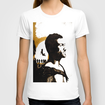 Andy Whitfield Spartacus Tribute custom t-shirt design by ArtbyNathanFreeman girl