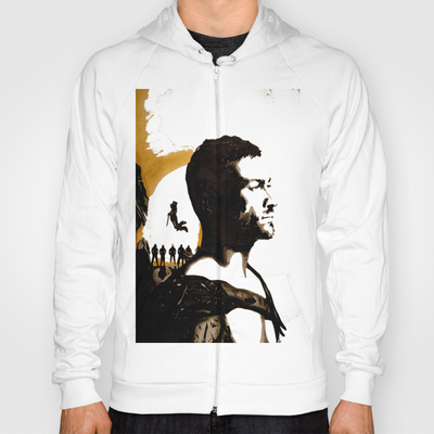 Andy Whitfield Spartacus Tribute custom t-shirt design by ArtbyNathanFreeman hood
