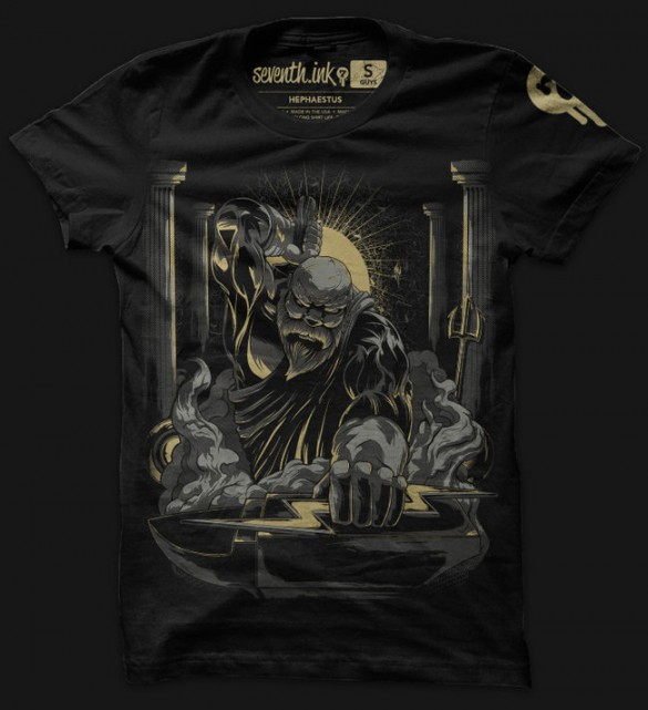 Athena, Hephastius and Hades custom t-shirts designs from seventhink 2