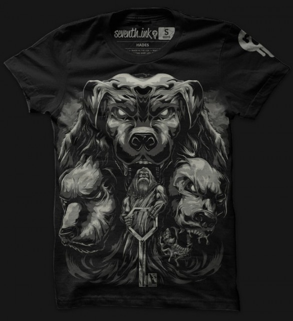 Athena, Hephastius and Hades custom t-shirts designs from seventhink 3
