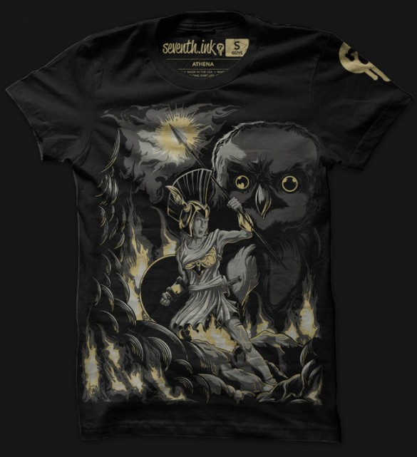 Athena, Hephastius and Hades custom t-shirts designs from seventhink