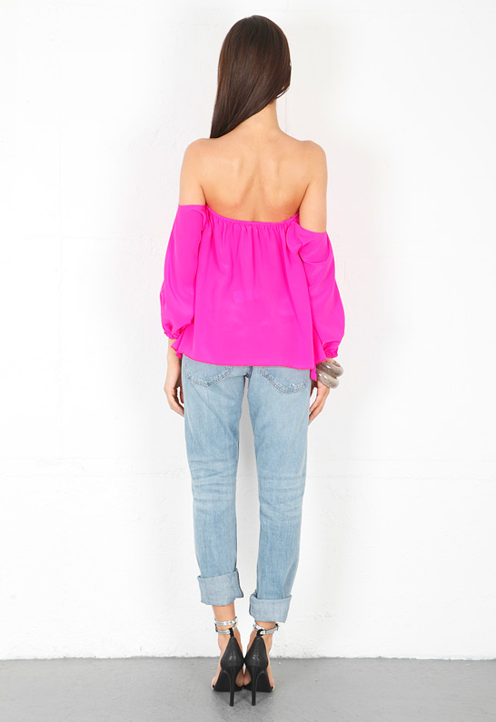 Boulee Audrey Long Sleeve Top in Mixed Pink from singer22.com back