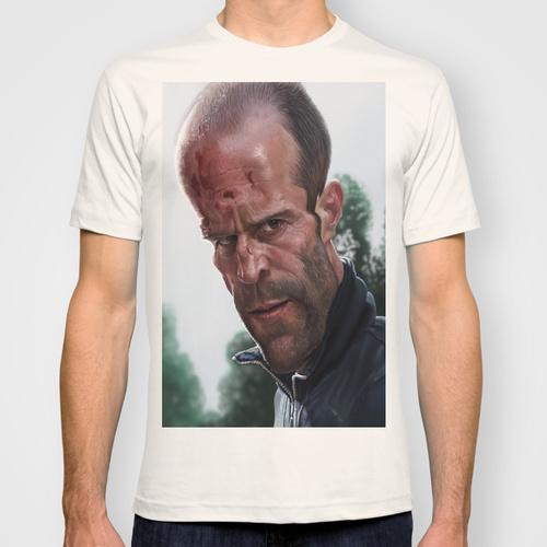 Daily Tee Jason Statham custom t-shirt design by Alexander Novoseltsev face