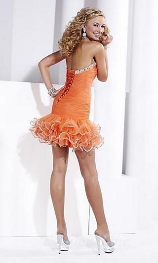 Baby doll Organza Strapless Short Dress