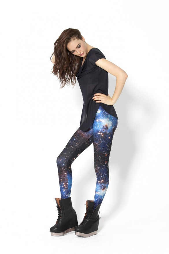 Galaxy Blue Leggings from blackmilkclothing.com 1