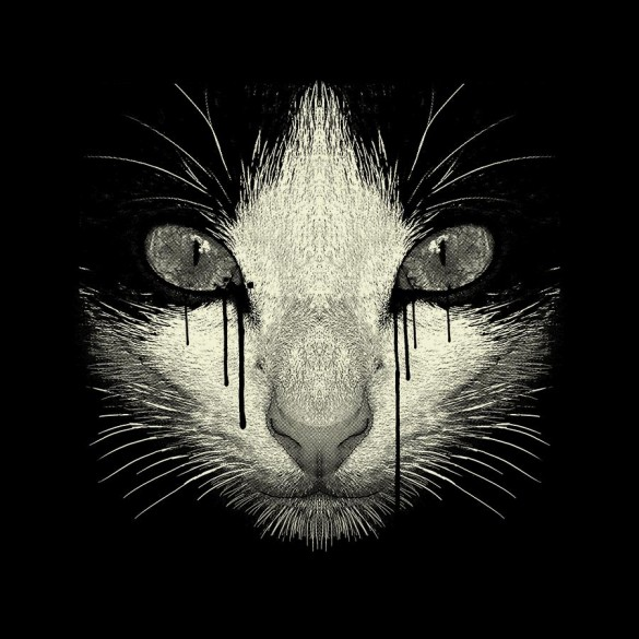 Inked Cat t-shirt design  cat