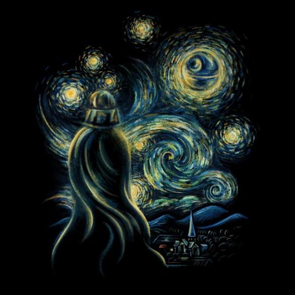 Starry Night custom t-shirt design by buko