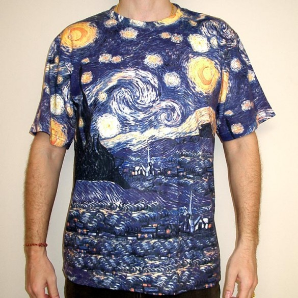 Starry Night t-shirt design by Vincent Van Gogh