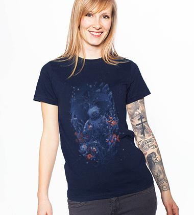 Bblbllllblbboubblbou custom t-shirt design by georgeslemercenaire girl
