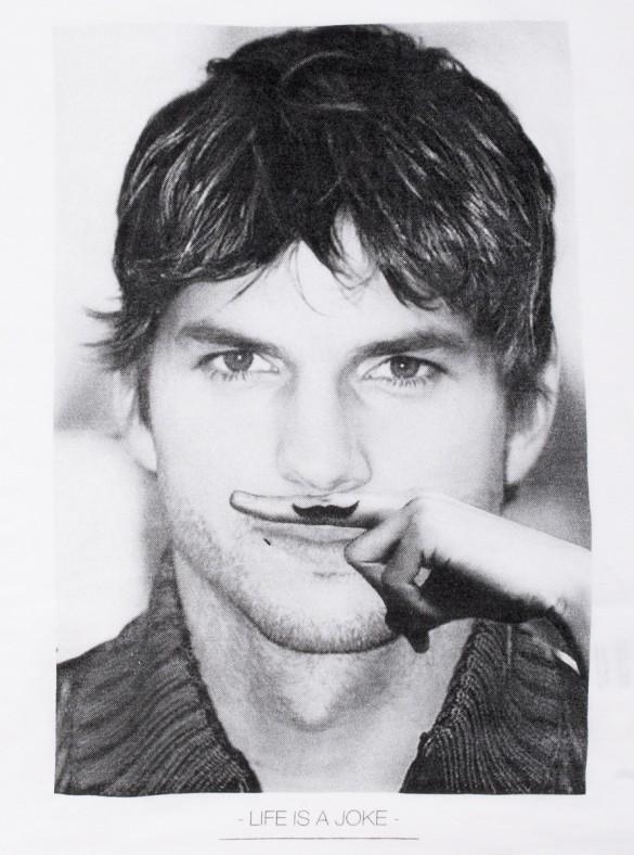 Daily Tee Ashton Kutcher Moustache custom t-shirt design by Eleven Paris (2)