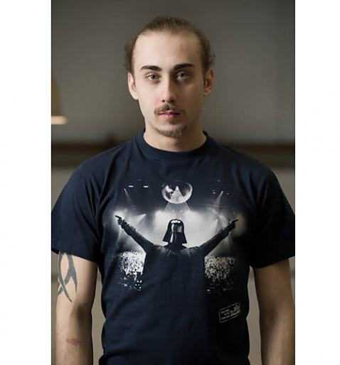 Daily Tee DJ Vader custom t-shirt design by truffleshuffle model