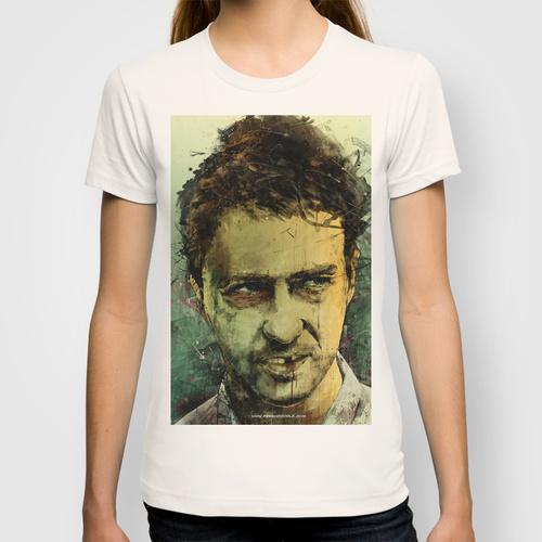 Daily Tee Edward Norton custom t-shirt design by Fresh Doodle - JP Valderrama girl
