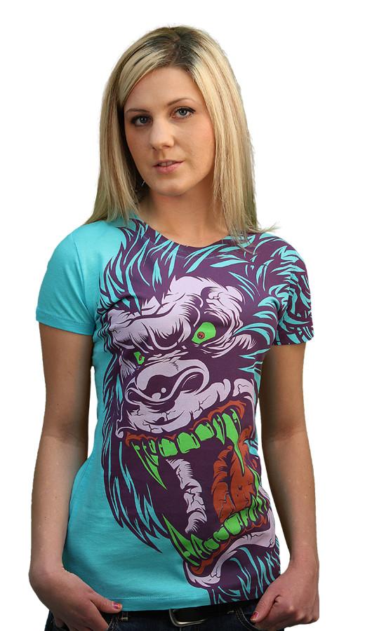 Daily Tee Sasquatch Frenzy custom t-shirt design by Mr Nicolo front