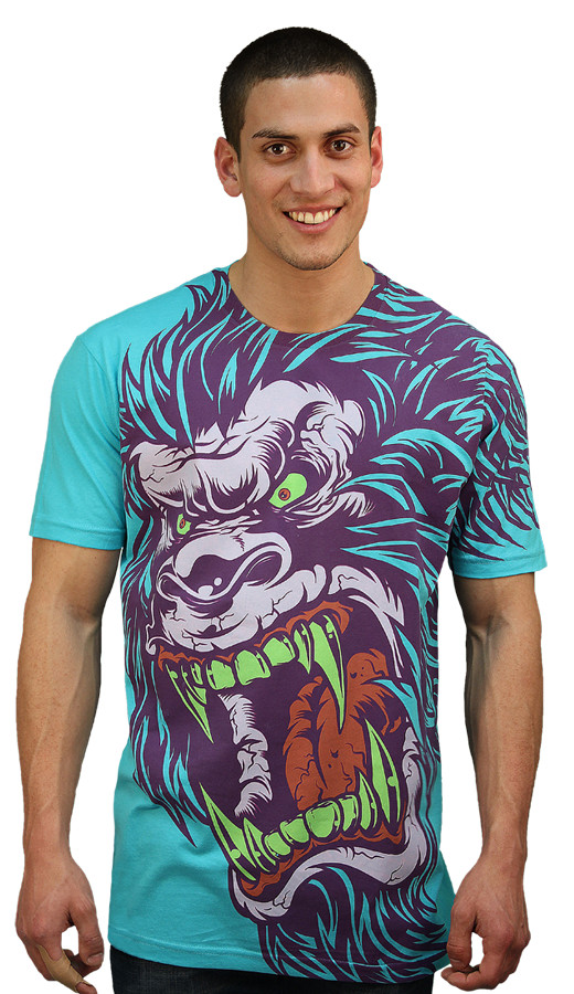 Daily Tee Sasquatch Frenzy custom t-shirt design by Mr Nicolo man front