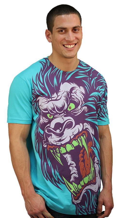 Daily Tee Sasquatch Frenzy custom t-shirt design by Mr Nicolo side