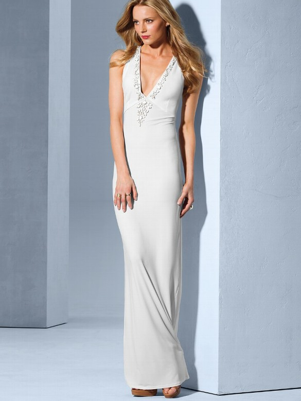 Embelished Racerback Maxi Dress