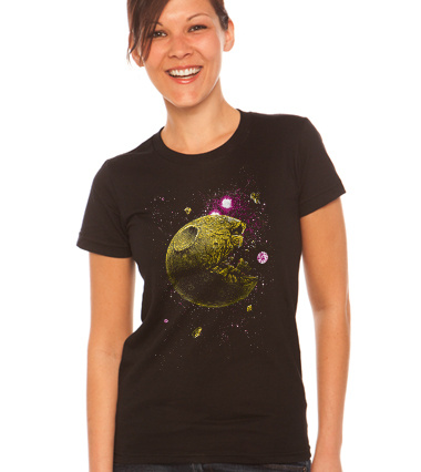 Pacmoon custom t-shirt design by georgeslemercenaire girl