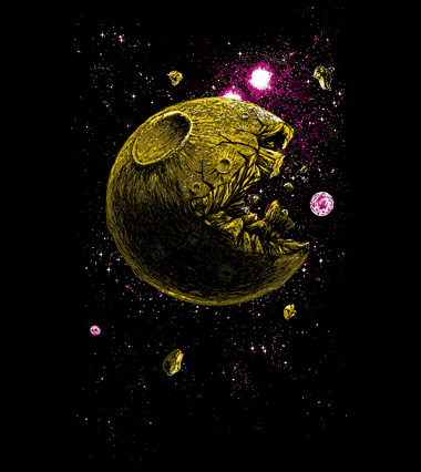 Pacmoon custom t-shirt design by georgeslemercenaire