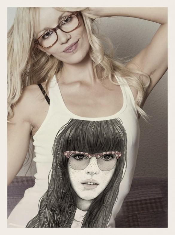 Printed t-shirts by Mercedes deBellard