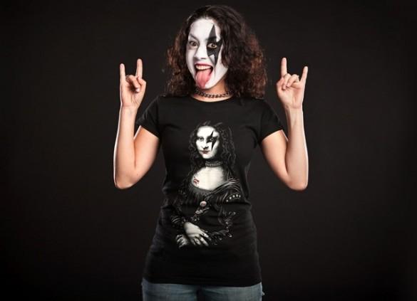 Daily Tee Renaissance Rocks custom t-shirt design by Enkel Dika female