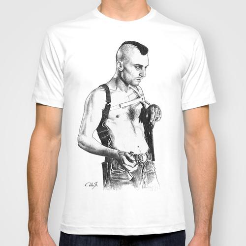Daily Tee Robert De Niro from Taxi Driver custom t-shirt design by Calibos