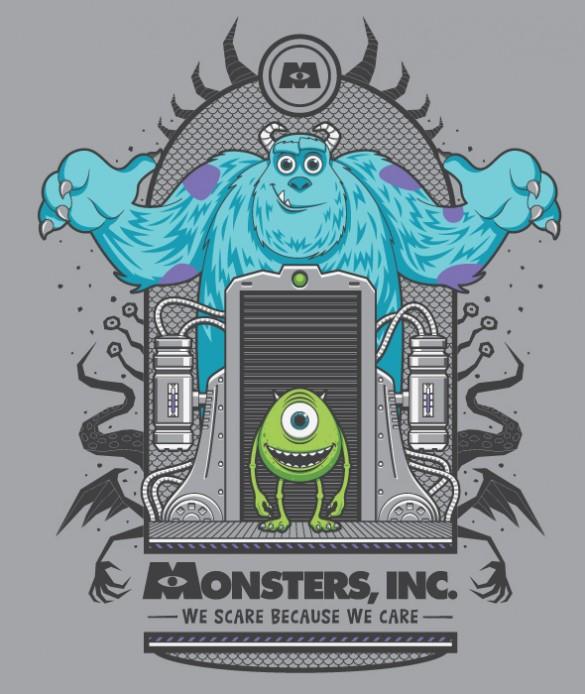 Monsters Inc. custom t-shirt design by Fernando Regalado
