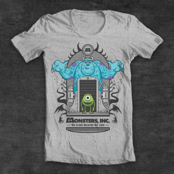 Monsters Inc. custom t-shirt design by Fernando Regalado t-shirt