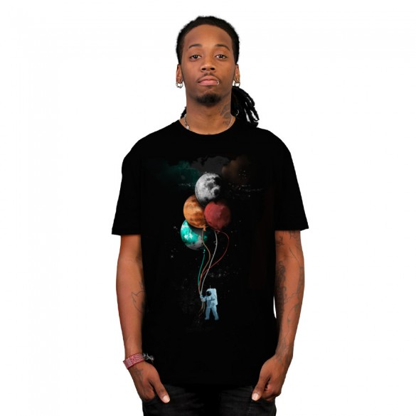 The spaceman's trip custom t-shirt design by gloopz man