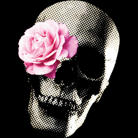 Flower Skull T-shirt Design by vansparrow design