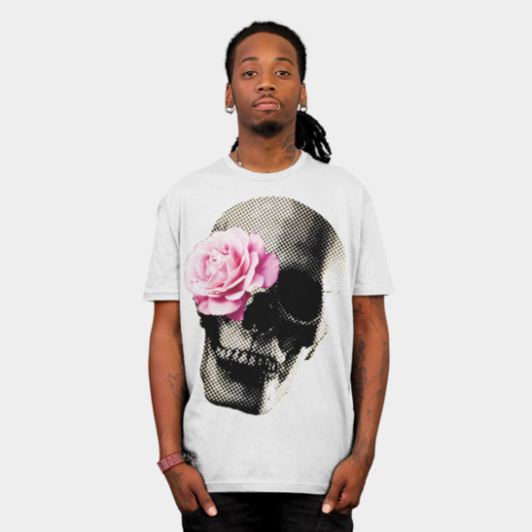 Flower Skull T-shirt Design by vansparrow man