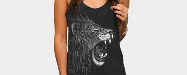 Lion T-shirt Design by pirrokoci woman main image