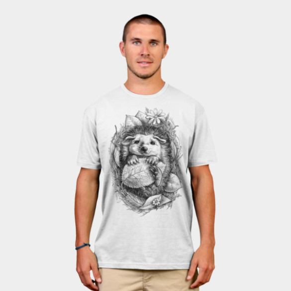 Little Hedgehog T-shirt design elinakious man tee