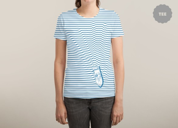 WAKE TEe Design  by Phil Jones woman tee