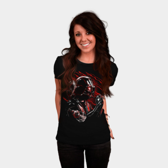 Wrath of Darth Vader T-shirt Design by by StarWars woman tee