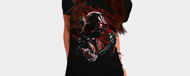 Wrath of Darth Vader T-shirt Design by by StarWars woman tee main image