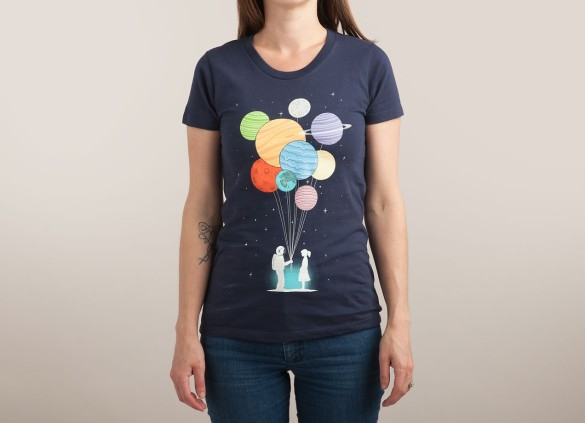 YOU ARE MY UNIVERSE T-shirt Design by Lim Heng Swee woman