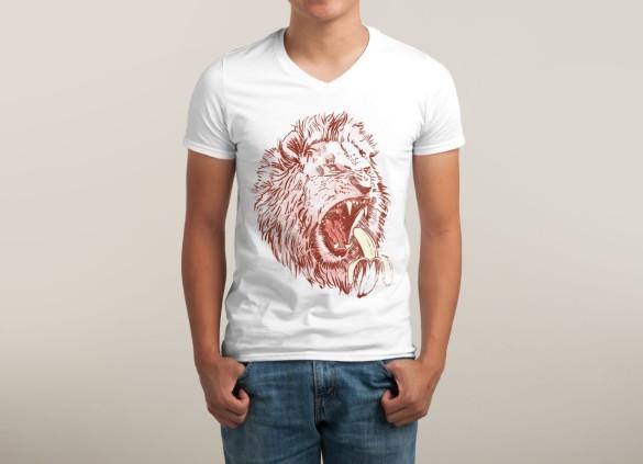 BANANA EATING LION T-shirt Design by TripperJack man tee