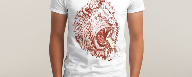 BANANA EATING LION T-shirt Design by TripperJack man tee main image