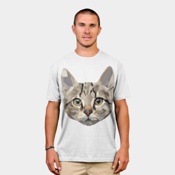 Geometric Cat T-shirt Design by billyplante man