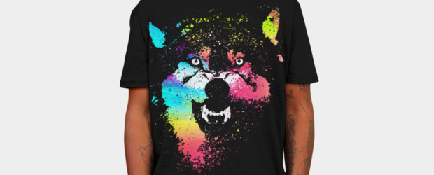 Technicolor Wolf T-shirt Design by clingcling man main image
