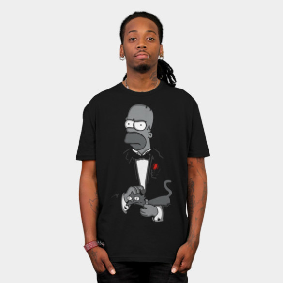 The Father T-shirt Design by Melonseta man tee